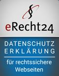 Datenschutzerklärung mit erecht24
